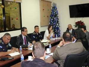 Personeros de APJ y ASJ se reunieron con la cúpula policial.