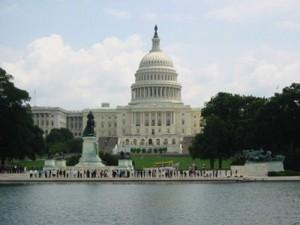 El edificio del Capitolio, sede del Senado de los Estados Unidos.