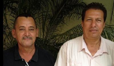 Trade unionists Tomás Membreño Pérez and Nelson Nuñez. Photo credit: Sisters of Mercy