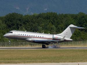 Este es el lujoso Jet que trasladó al presidente Hernández de Tegucigalpa a Europa.
