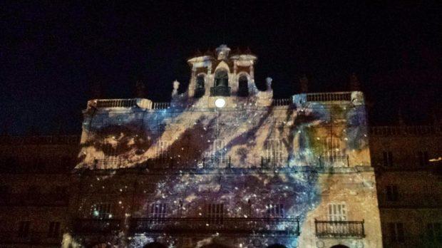 Videomapping hecho por los artistas hondureños